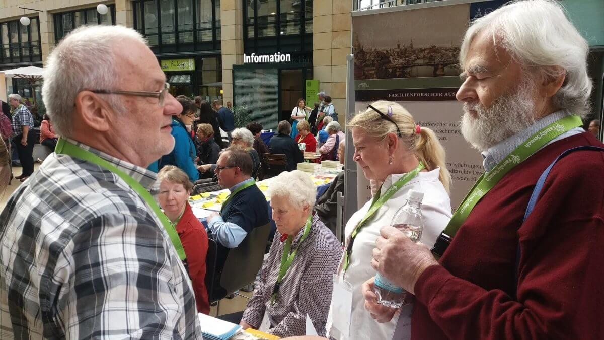 Sächsicher Gemeinschaftsstand beim 69. Genealogentag in Dresden 2017